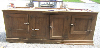 The olde farmhouse on windmill hill apothecary style medicine cabinet door salvaged for Apothecary style bathroom vanity