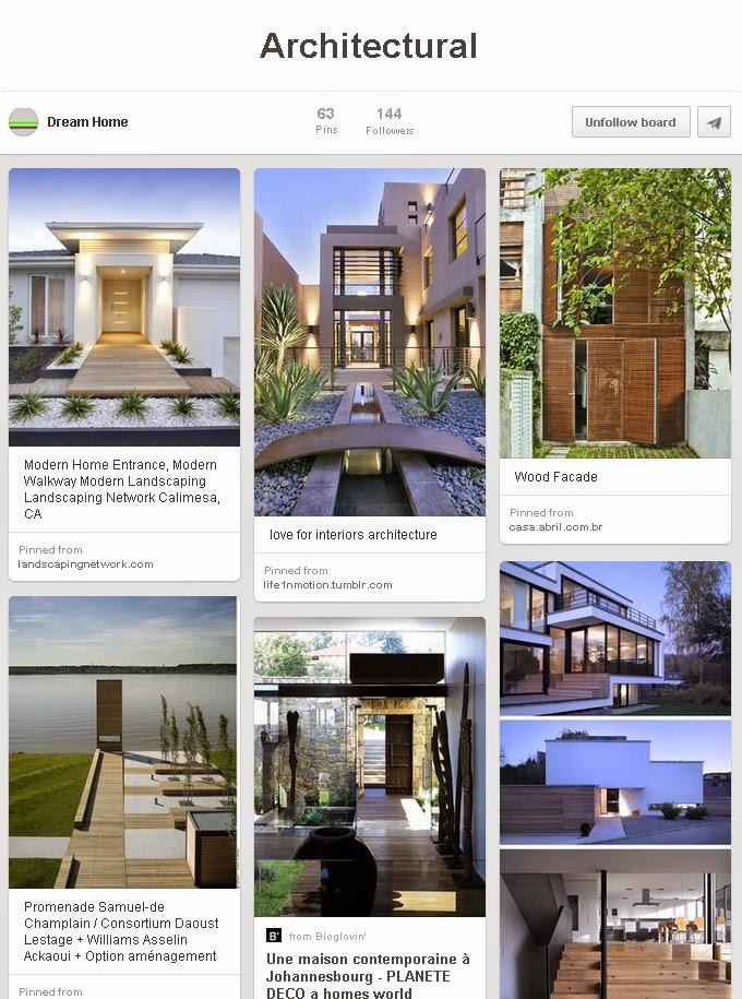 architecture examples on Pinterest good for business showcase
