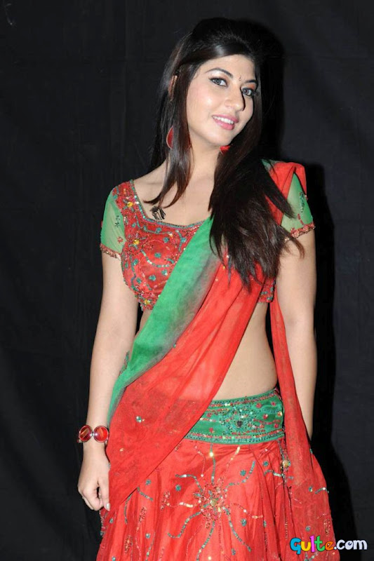 Sara Sharma in Ghagra choli Red - Sara Sharma hot Pics in Saree & Short Dress
