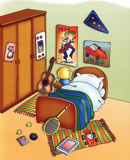 Imagenes habitaciones casa para imprimir for Dormitorio animado
