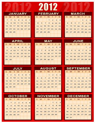 Pakistan Urdu Islamic Calender 2012