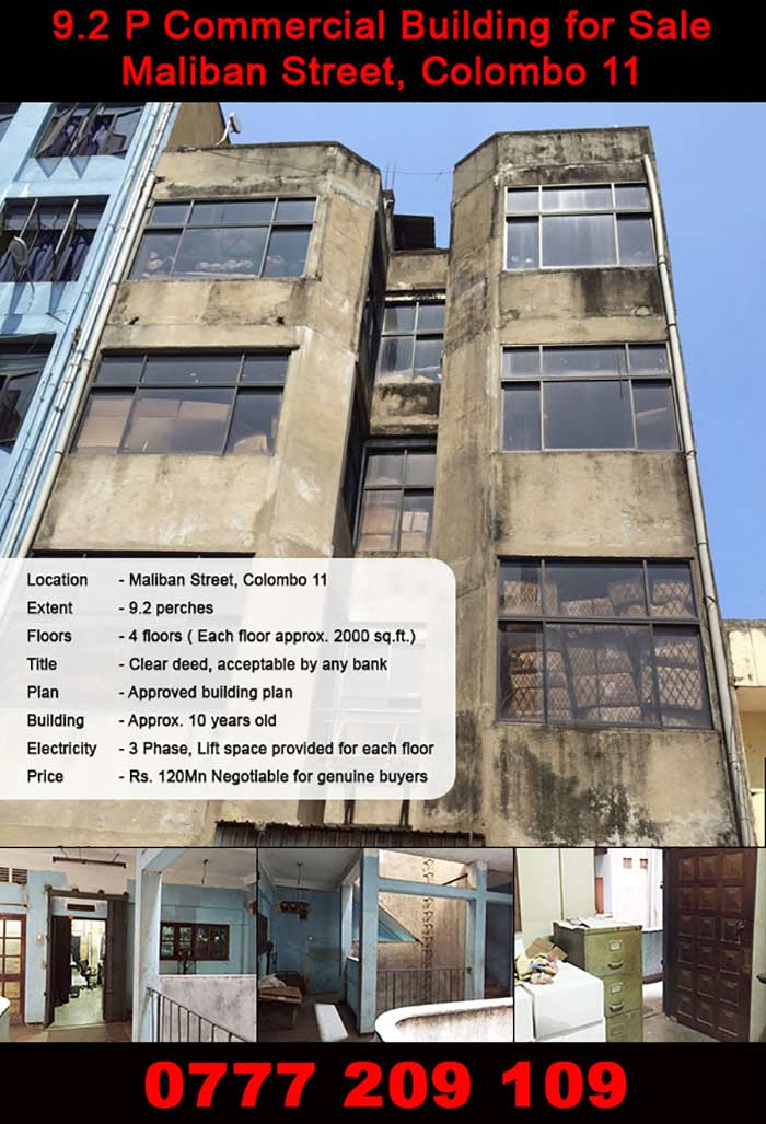 Building for Sale Colombo Maliban Street