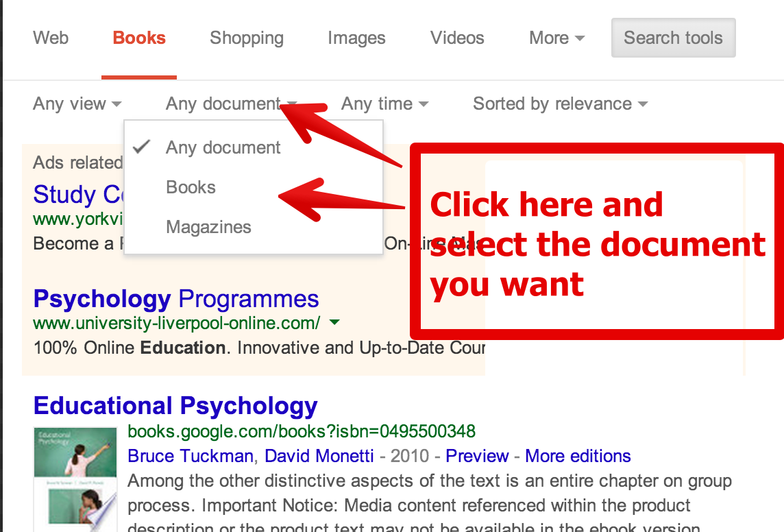 A Visual Guide To The Use Of Google Books For Research