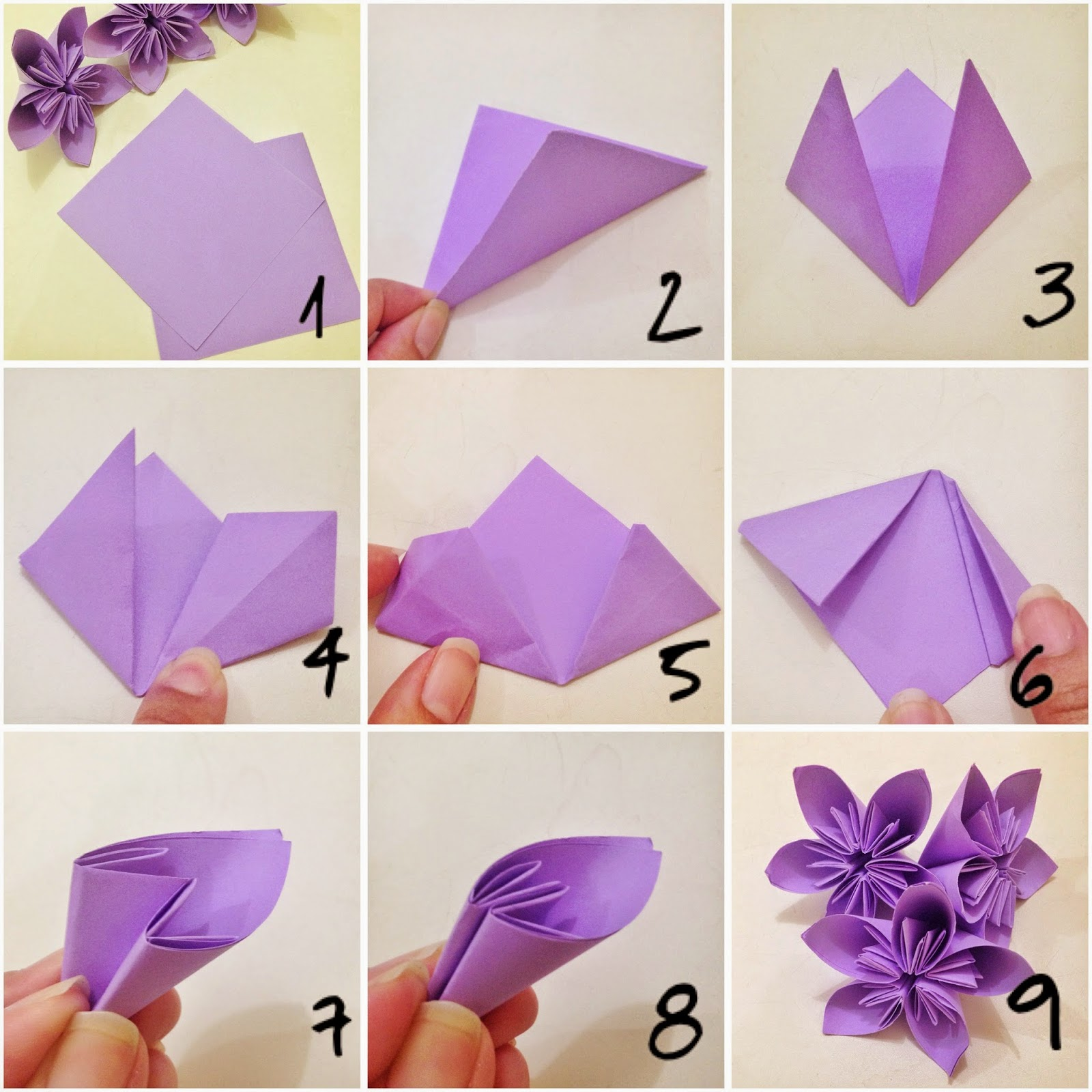 Origami Flower With A4 Paper Vatozozdevelopment