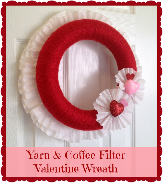 Valentine's Day, Wreaths, Hearts, Coffee Filters