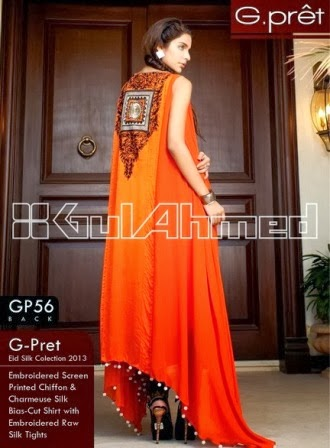 Gul Ahmed Printed Chiffon Shirt