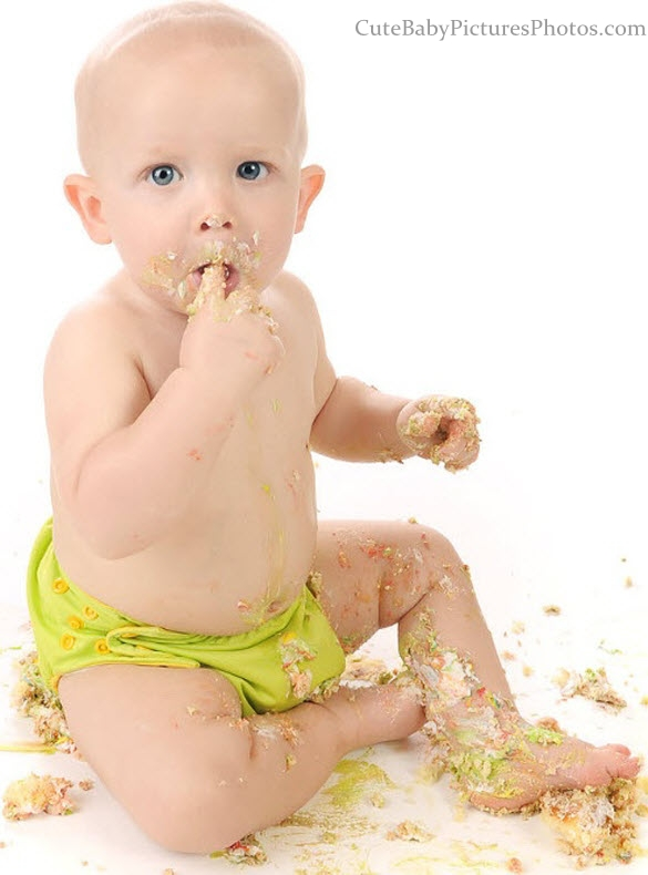 Babies Eating Cake Enter your blog name here