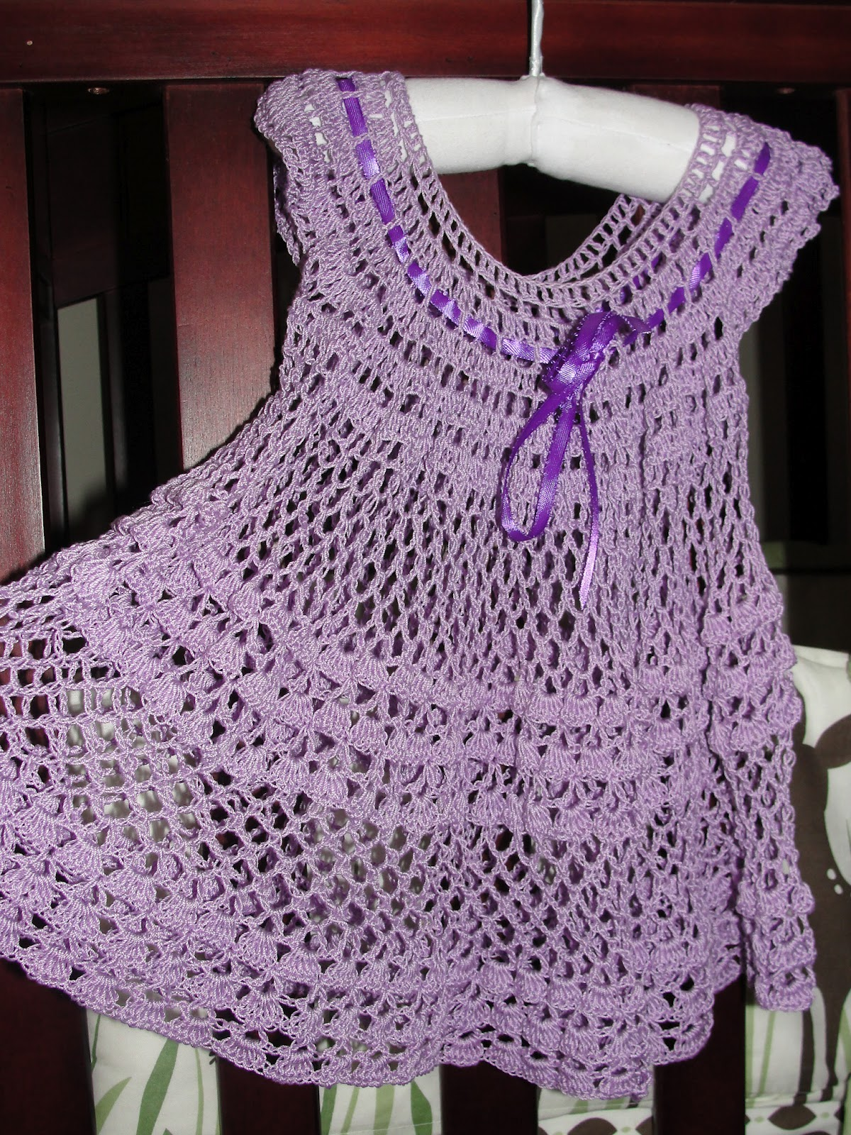 How To Crochet Baby Dress Pattern : In Karapoozville: Crochet summer baby dress