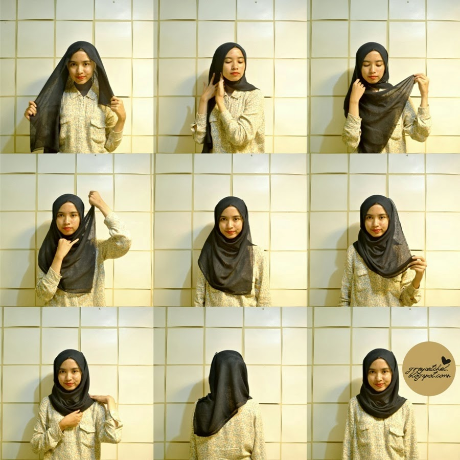 Hijab Pashminaa Cara Berhijab Paris Simple Images