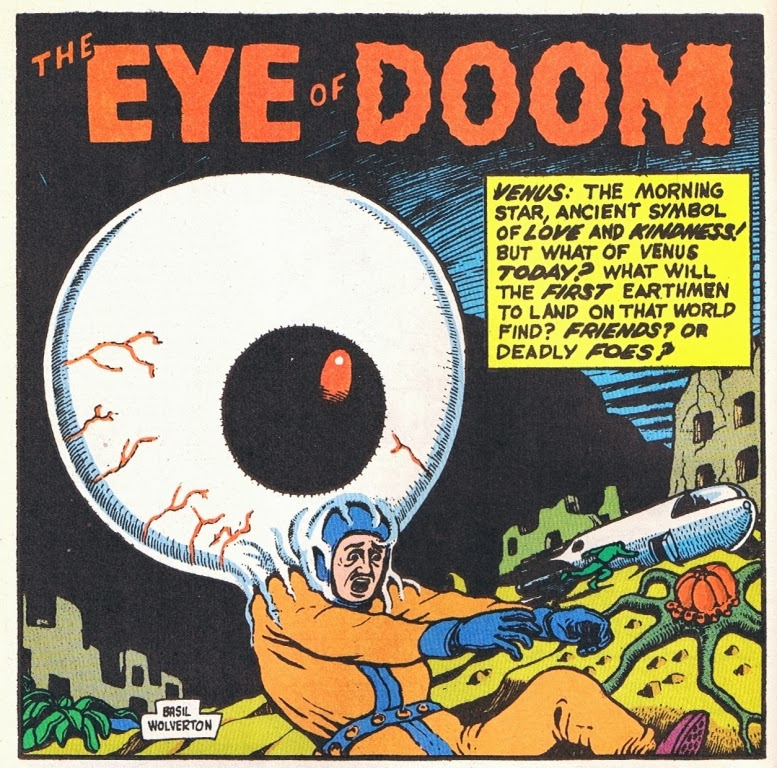 The Great Comic Book Heroes Basil Wolvertons The Eye Of Doom