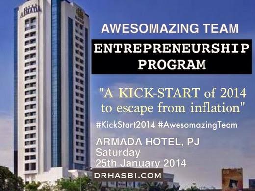 Awesomazing Team Entrepreneurship Program KickStart2014 di Armada Hotel