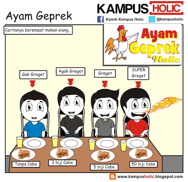 #186 Ayam Geprek, Makan siang ala komik kampus Holic