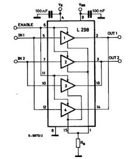 Motor Driver L298 Circuit Electronic Circuit
