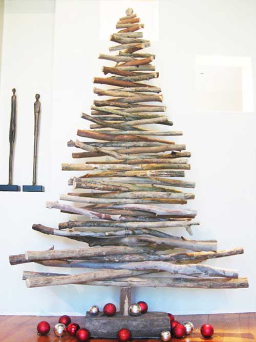 modern earth design unconventional christmas trees