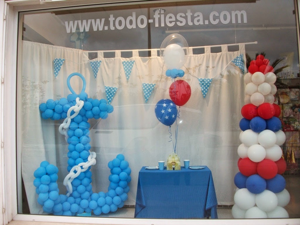 Decoraci n con globos de todo fiesta - Fiesta marinera decoracion ...