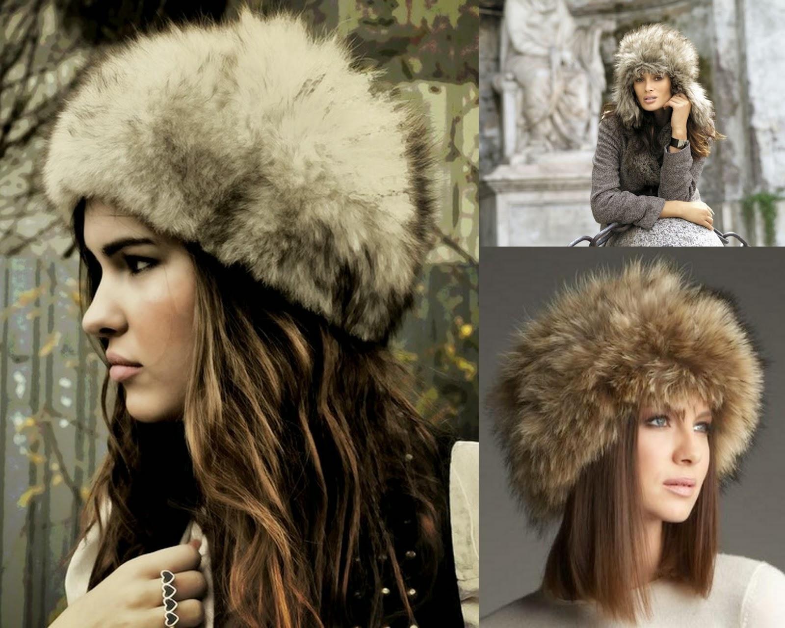Zimowe stylizacje - czapki