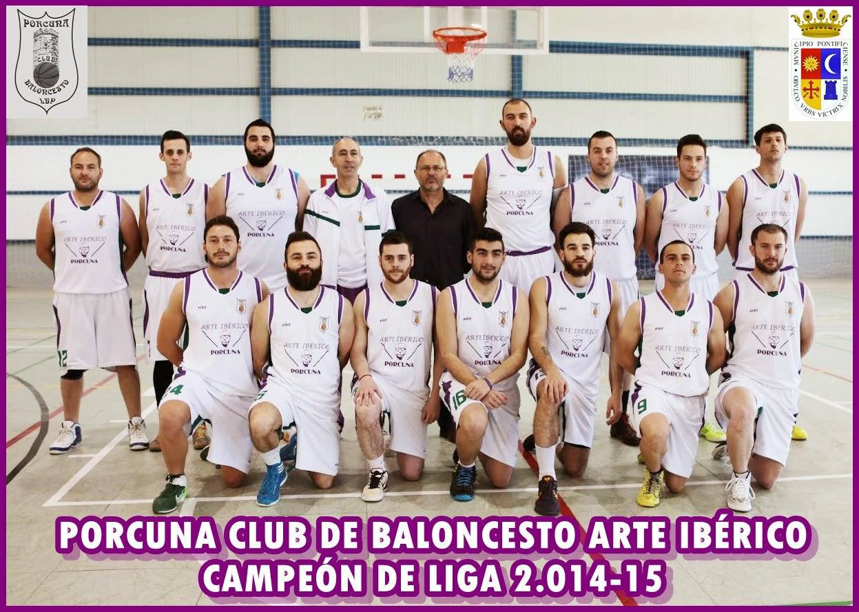 PORCUNA ARTE IBÉRICO CAMPEÓN PROVINCIAL 2014 - 2015.