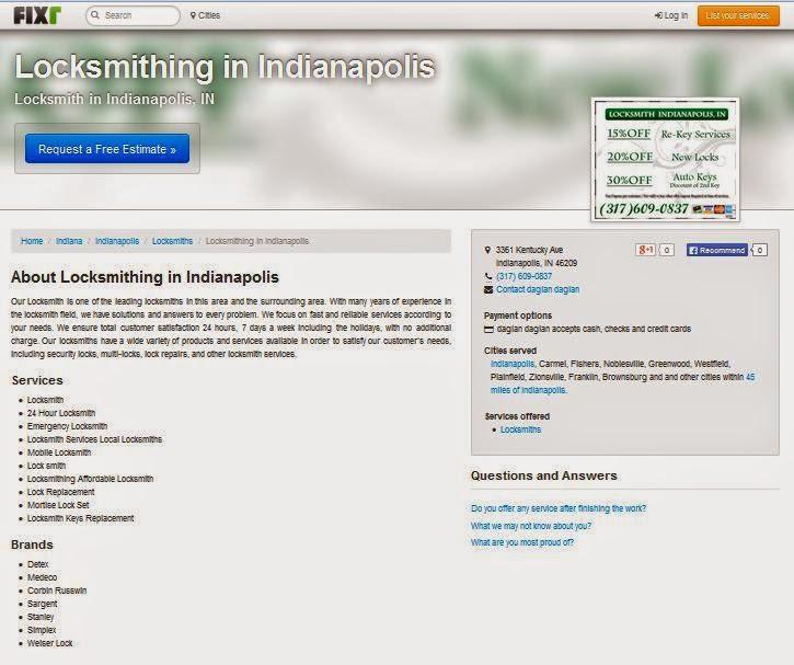 Locksmithing in Indianapolis