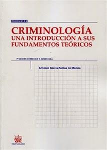 Criminología. Manuales Técnicos Especializados de Derecho.
