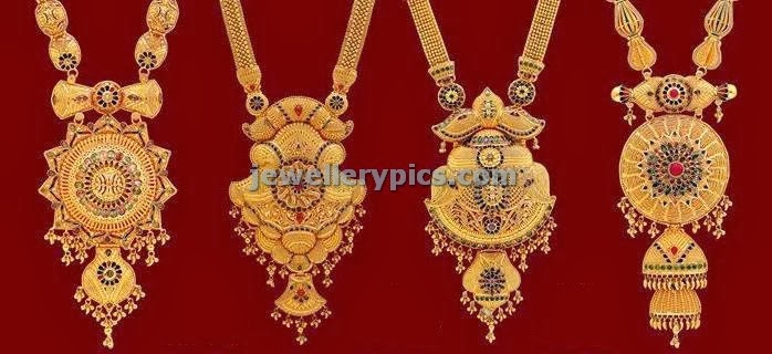 kolkata design haram lockets from lalitha jewellery