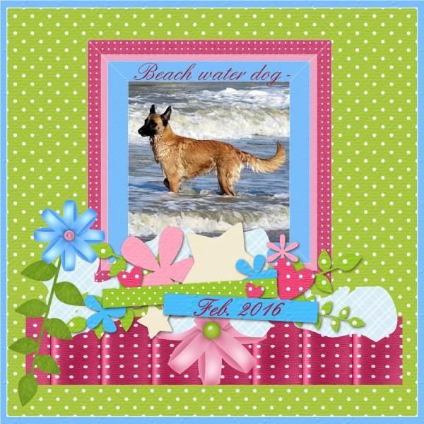 Scrap lift challenge - March 2016 Beach dog