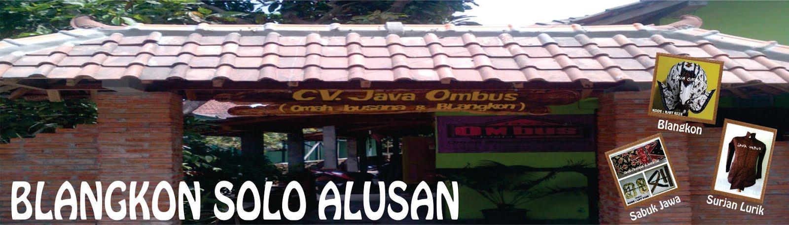 BLANGKON SOLO ALUSAN