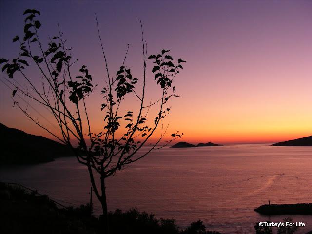 kalkan sunset
