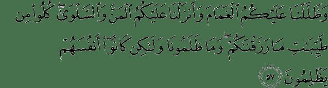 Surat Al-Baqarah Ayat 57
