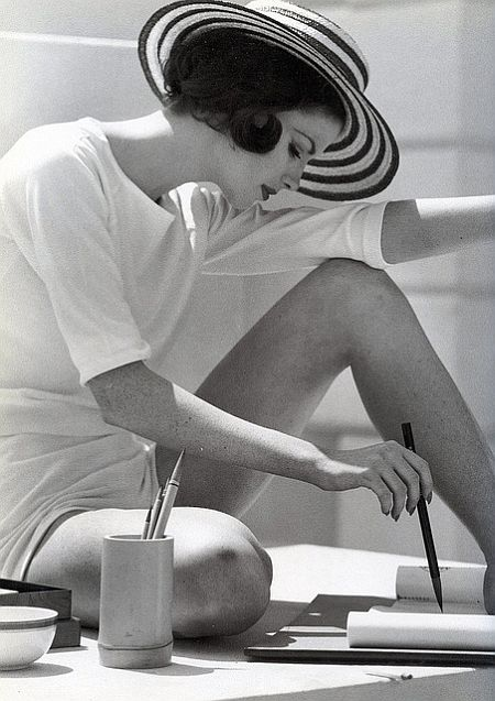 vintage stripes: Dorothea McGowan, by Frances McLaughlin-Gill, 1960