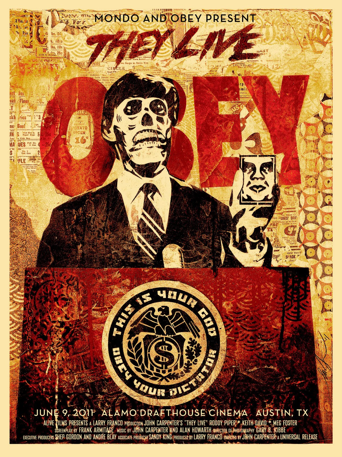 """The Blot Says...: Obey Giant x Mondo """"They Live"""" Screen Print by ..."""