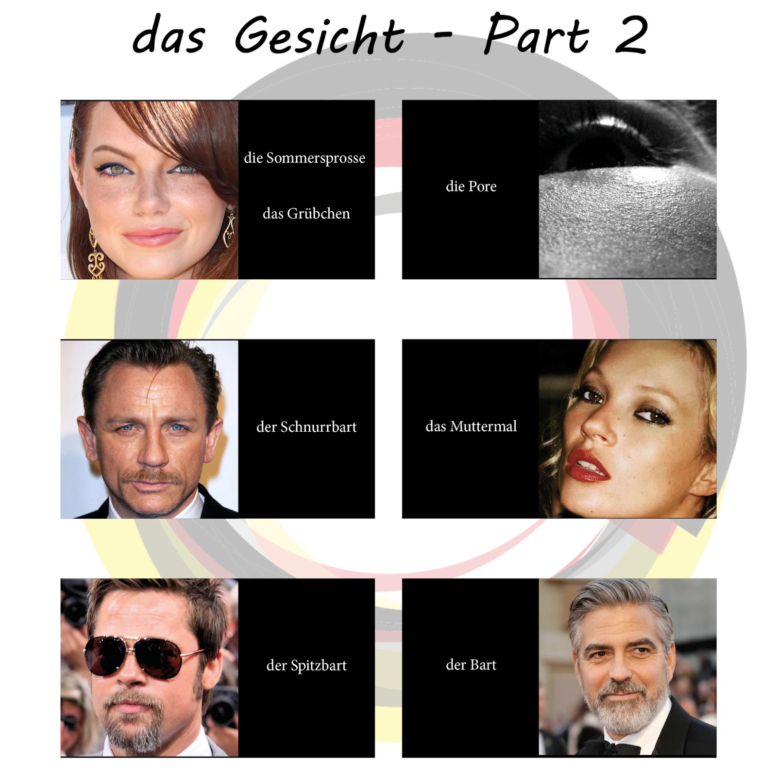 Solo alemán la cara en alemán