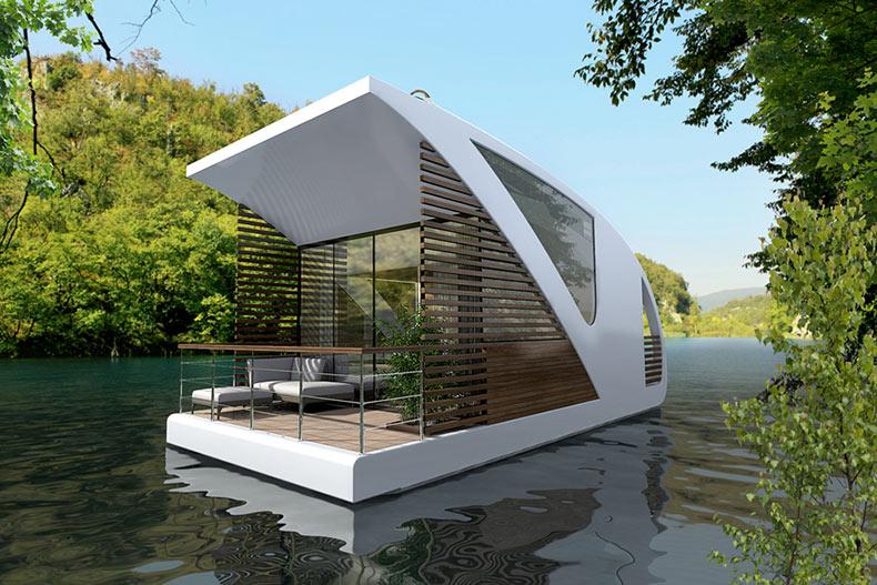 Hotel flotante con catamarán por Salt & Water