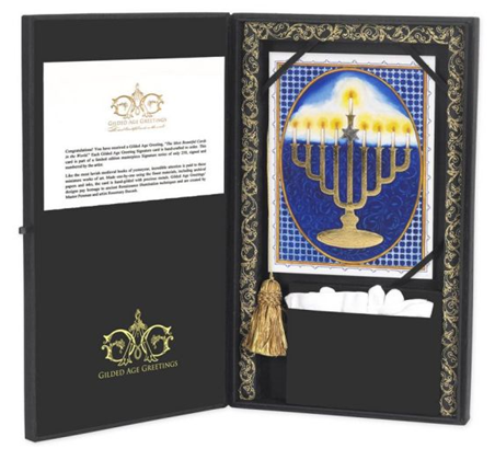 gilded greeting cards for christmas hanukkah and the holidays with gold jewels gems and paintings