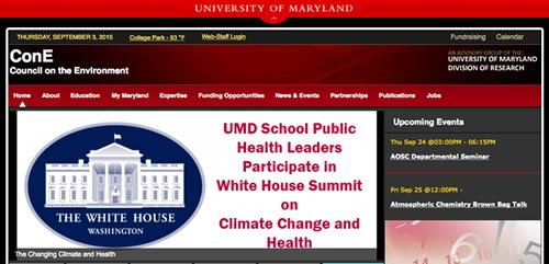 Made Possible By The Generous Support of UMD's Council on the Envirornment