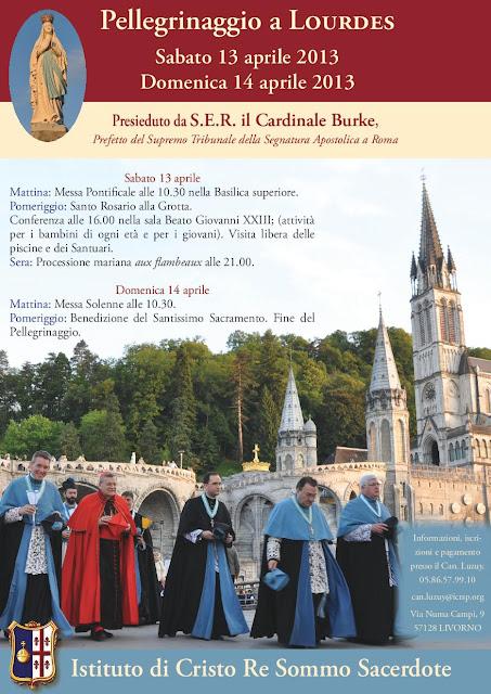 Locandina Pellegrinaggio Lourdes