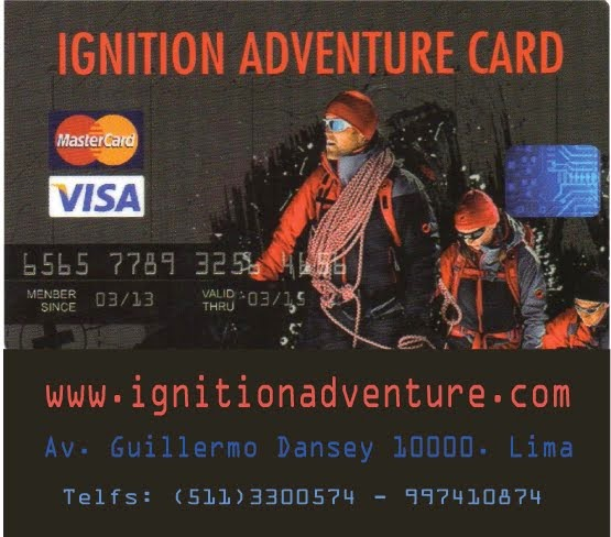 IGNITION ADVENTURE - AV. GUILLERMO DANSEY 10000. LIMA - FACEBOOK: Ignition Adventure