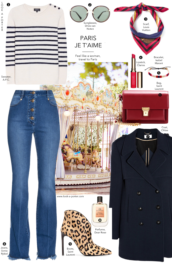 Parisian style outfit inspiration for weekend and casual look. Via www.look-a-porter.com style & fashion blog / outfit ideas daily