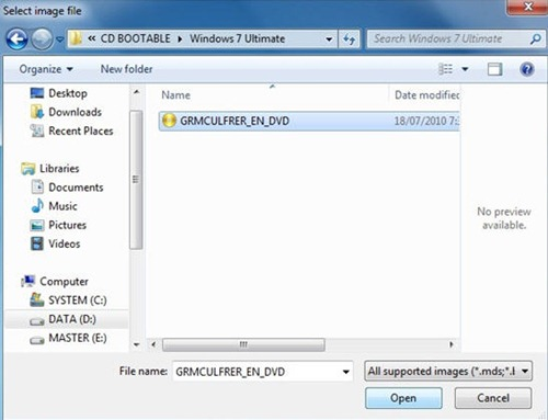 how to make an iso bootable in windows 7 cmd