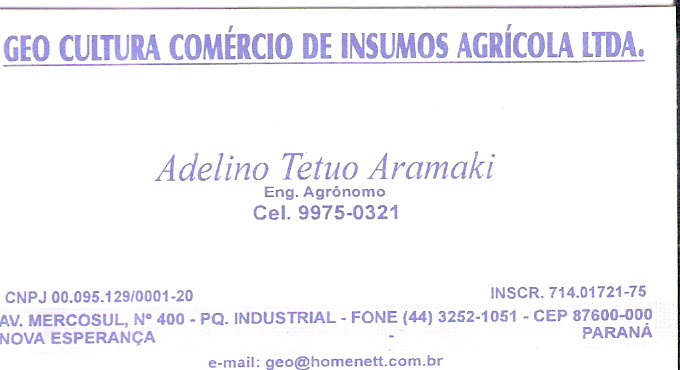 Agrícolas LTDA.