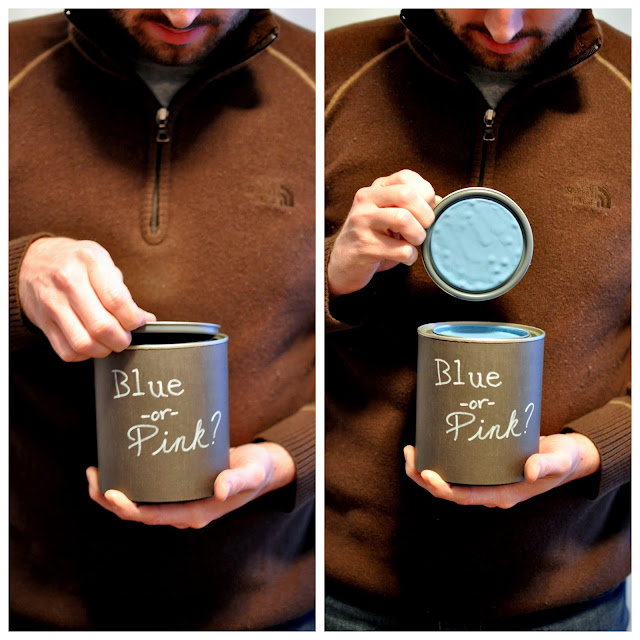Gender Reveal, paint can