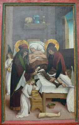 Saint-Côme, Saint Damien, chirurgie, transplantation, auréoles