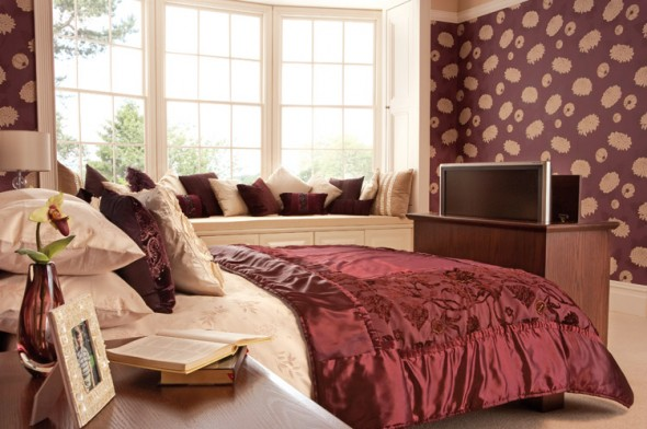 maroon bedroom ideas - Maroon Bedroom Interior