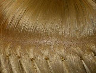 Its a glamour thing micro ring vs nano ring hair extensions again the extensions are applied in horizontal rows until the desired look has been achieved solutioingenieria Gallery