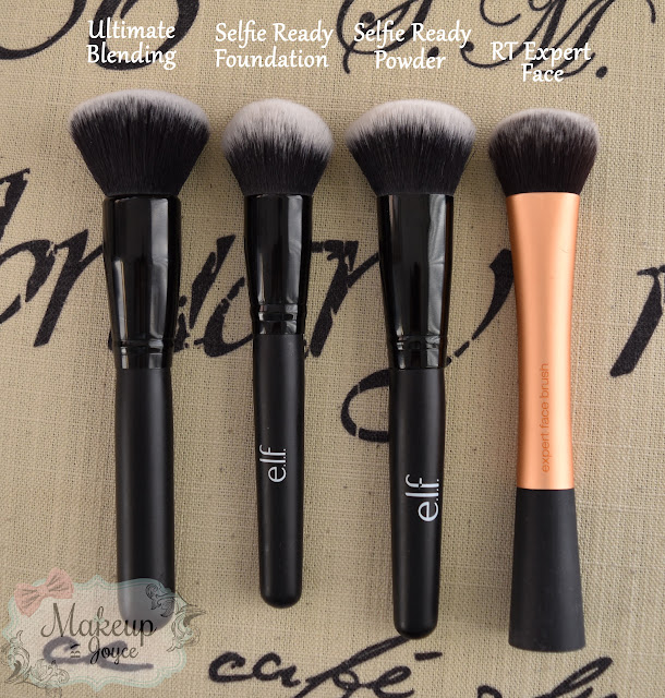 ELF Selfie Ready Powder Brush vs Real Techniques Expert Face Brush