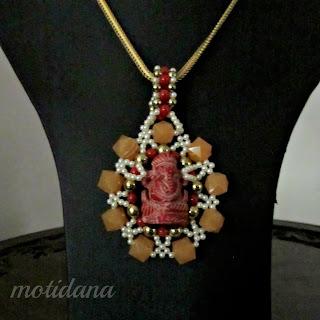 designer coral pendant