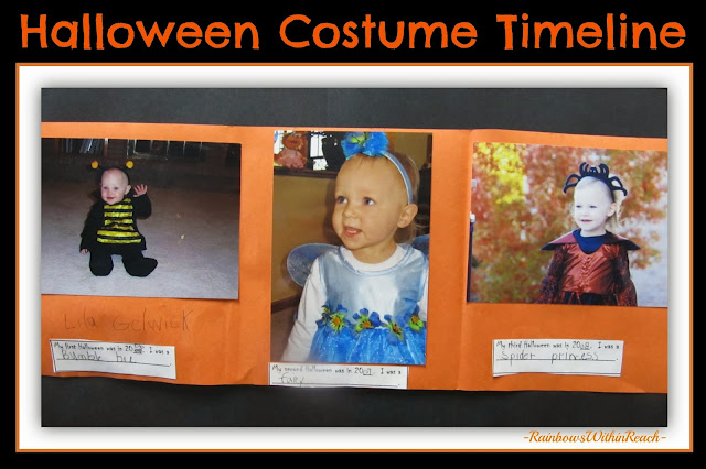 Timeline of Halloween Costumes to Document the Passing of Time via RainbowsWithinReach