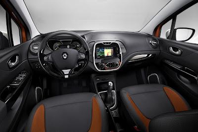 Gli interni del SUV crossover Renault Captur