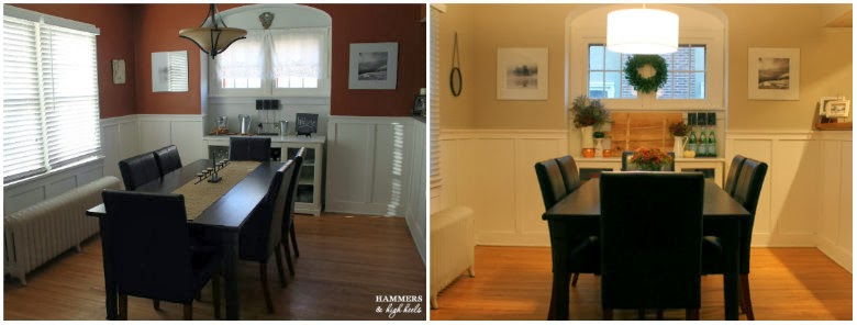 Hammers And High Heels Our Latest Project Reveal New Color Lighting In The Dining Room