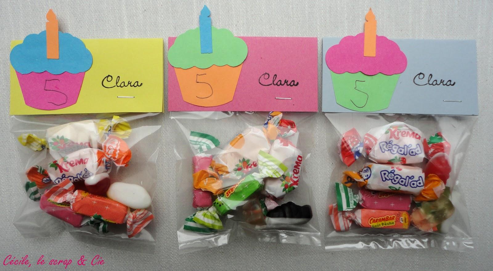 C cile le scrap cie anniversaire l 39 cole - Fabriquer sachet bonbon anniversaire ...