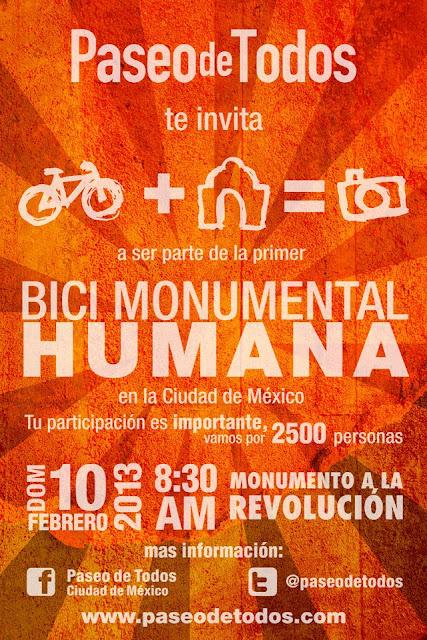 Paseo de todos invita a participar en la Bici Monumental Humana